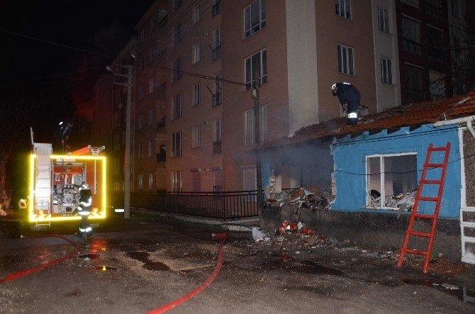Eskişehir'de Boş Evde Yangın