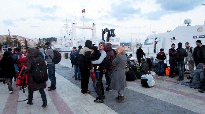 Çeşme'de, 15 Saatte 505 Sığınmacı Yakalandı