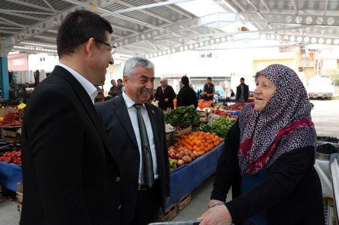 Başkan Subaşıoğlu Pazaryeri Esnafını Ziyaret Etti