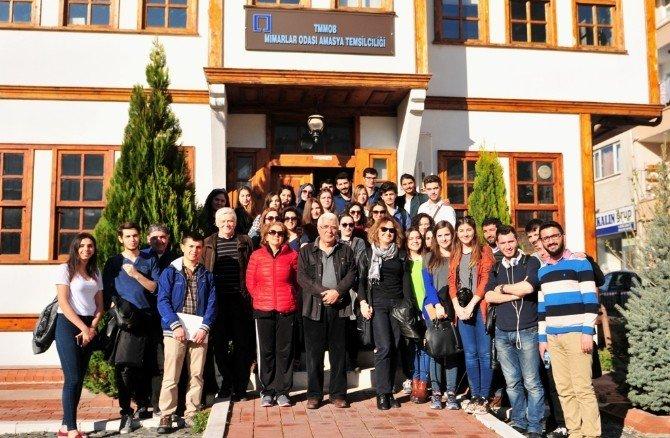 Mimarlık Fakültesi Öğrencilerinden Amasya'ya Araştırma-inceleme Gezisi