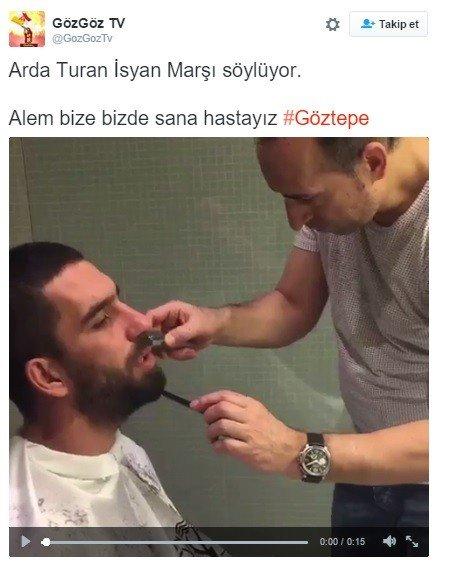 Arda Turan'dan Göztepe Marşı