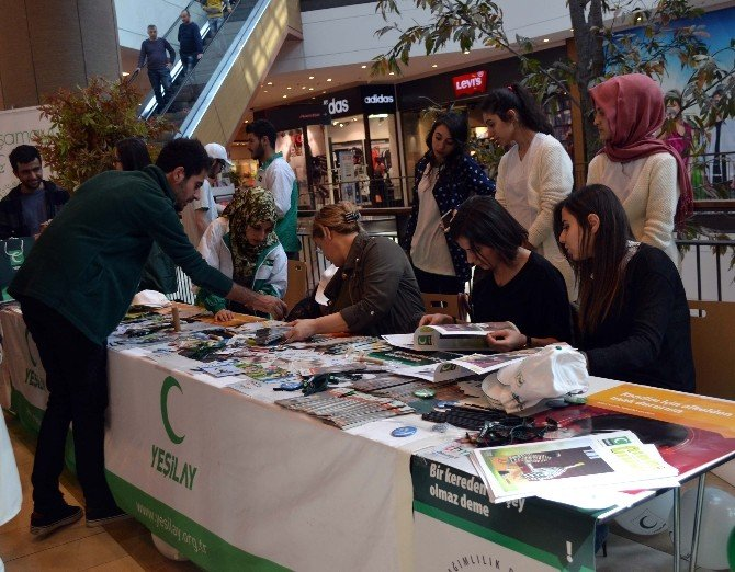 Yeşilay, Piazza'da Bilgilendirme Standı Kurdu