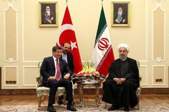 Başbakan Davutoğlu, Ruhani Tarafından Kabul Edildi