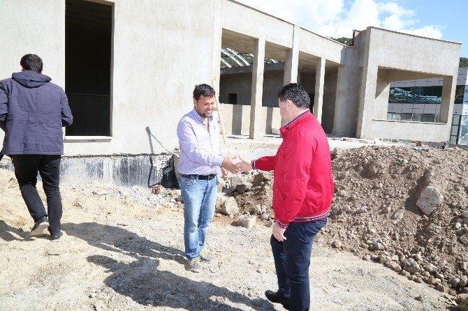 Başkan Kocadon, Cemevi İnşaatını İnceledi