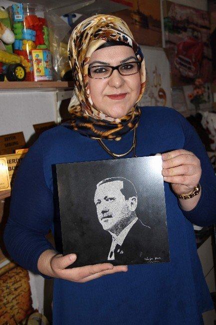 Dünyanın TEK Kadın Granit Resim Sanatçısı Nevşehir'de