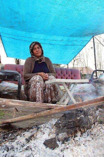Karabük'te Binada Heyelan Tehlikesi