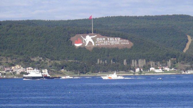 Rus askeri kurtarma römorkörü Çanakkale Boğazı'ndan geçti