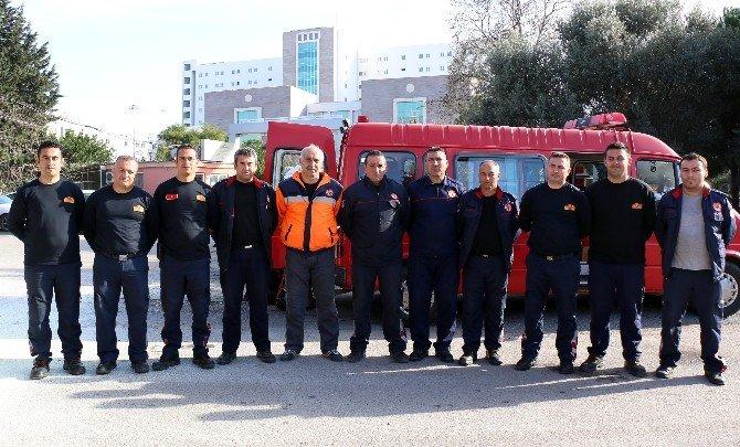 Büyükşehir'den Sağlık Personeline Yangın Tahliye Tatbikatı