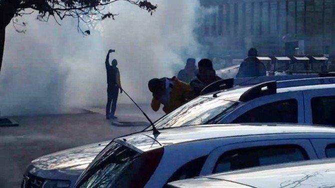 Ankaragücü Taraftarına Biber Gazlı Müdahale
