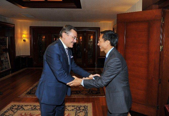 Çin Büyükelçisi'nden Ankara Büyükşehir Belediyesi'ne Ziyaret