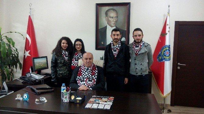 Bilecik Unibjk Taraftar Grubu Vali Ve İl Emniyet Müdürünü Ziyaret Etti