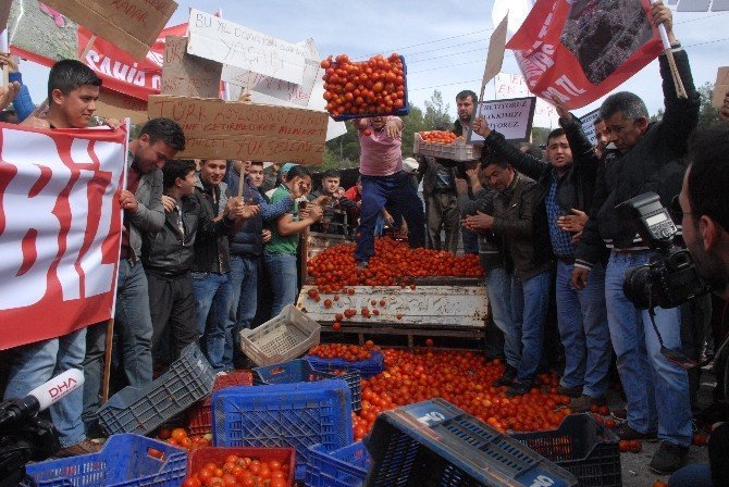 Üreticilerin 'Kırmızı' Eylemi