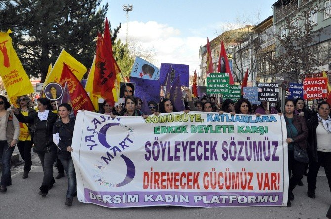 Tunceli'de 8 Mart Kutlaması