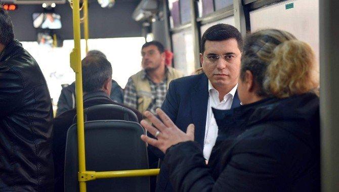 Tütüncü Halk Otobüsünde Vatandaşlar Dertleşiyor