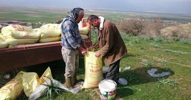 Aydın'da Yılın İlk Mera Islahı Gübreleme Çalışmaları Tamamlandı