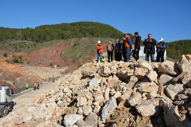 Adrasan Baraj İnşaatının Yarısı Tamamlandı
