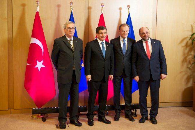 Davutoğlu, AB Zirvesi'nde
