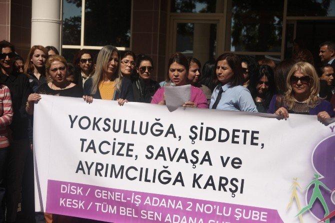 Seyhan Belediyesi'nin Kadın Çalışanları Eylemde