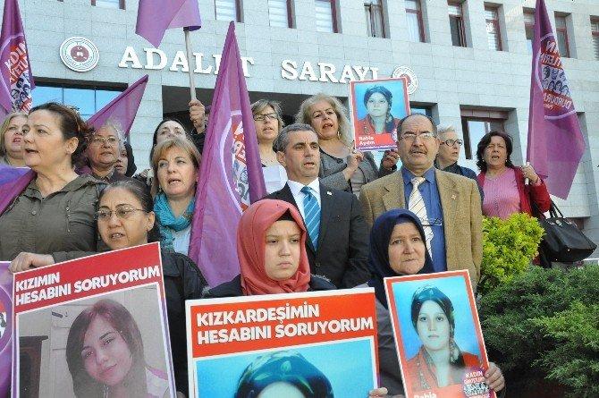 Öldürülen Rabia İçin Kadınlar Adliyede Toplandı