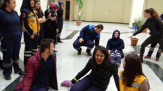 AFAD Ve UMKE'den Bilecik Şeyh Edebali Üniversitesinde Tatbikat