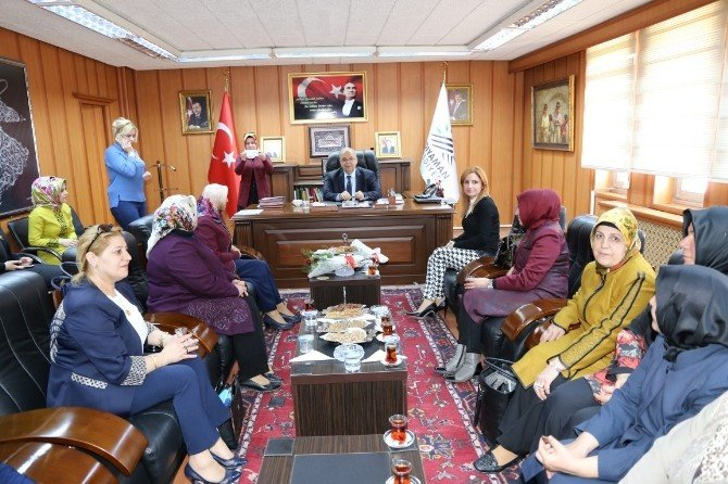 Kadın Kolları Başkanlarından, Başkan Kutlu'ya Ziyaret
