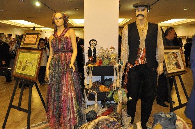 Alanya'da El Sanatları Sergisi Kadınlar Gününde Açıldı