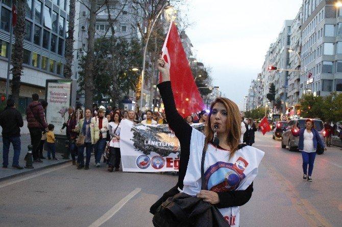 Antalya'da Kadınlardan Süpergeli Yürüyüş