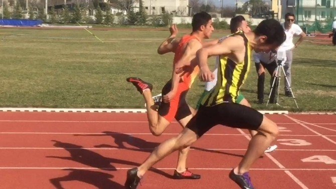 Aydın'da Atletizm Deneme Yarışları Yapıldı