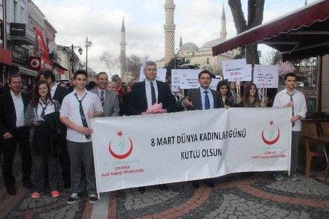 Edirne'de Kadınlar Günü Yürüyüşü