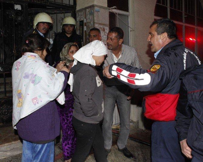 Yangında Mahsur Kalan Suriyelileri İtfaiye Kurtardı