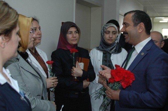 Sağlık-sen'den Kadınlar Günü'nde Anlamlı Ziyaret