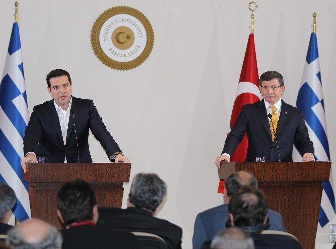 Davutoğlu-çipras Ortak Basın Toplantısı