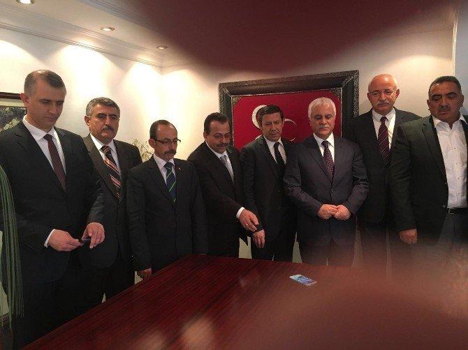 Konyalı Ülkücülerden Genel Başkan Adaylarına Ziyaret