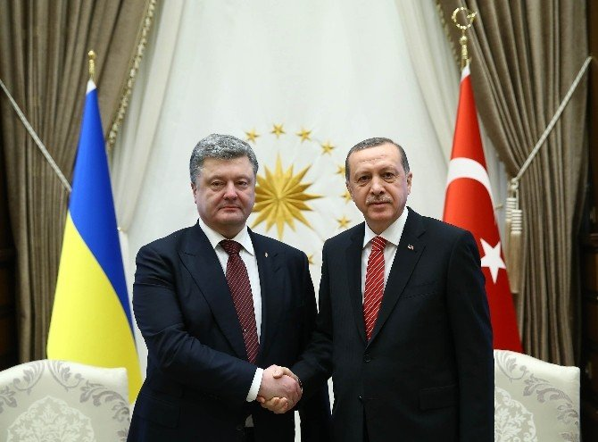 Cumhurbaşkanı Erdoğan Ve Ukrayna Devlet Başkanı Poroşenko İle Görüştü