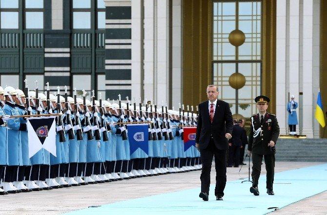 Ukrayna Devlet Başkanı Poroşenko Beştepe'de