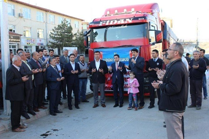 Kadışehri İlçesinden Bayırbucak Türkmenleri'ne Yardım