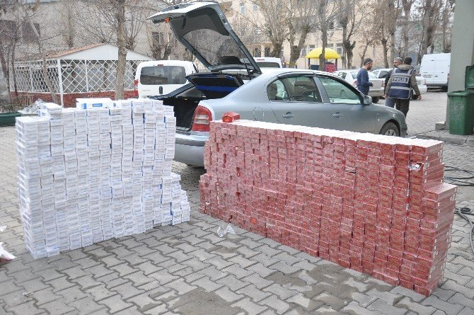 Muş'ta 8 Bin 500 Paket Kaçak Sigara Ele Geçirildi