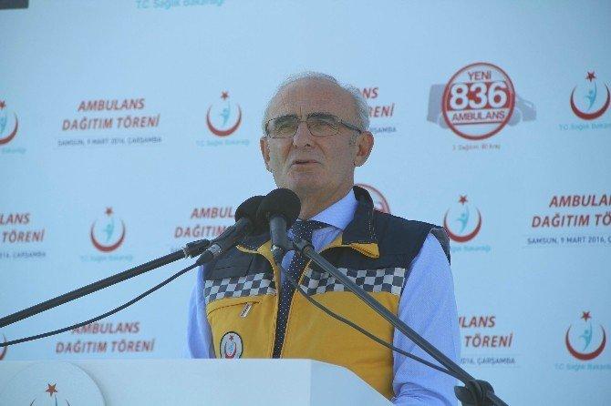 836 Ambulansın Üçüncü Dağıtımı Samsun'da Yapıldı