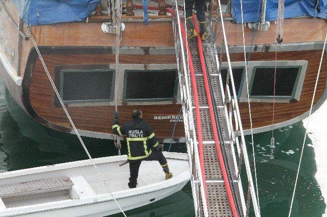 Teknedeki Yangın Korkuttu
