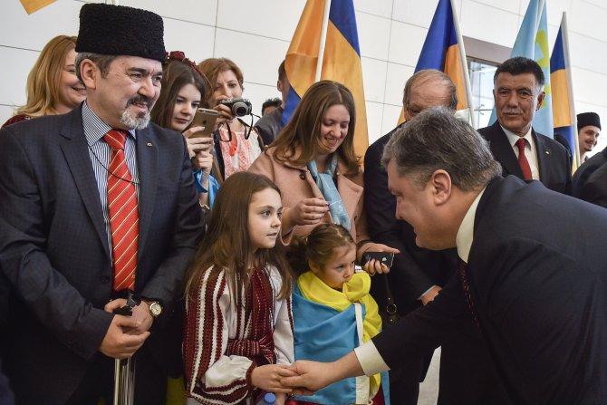"""Poroşenko, TBMM'nin """"Kırım soykırımını"""" tanımasını istedi"""