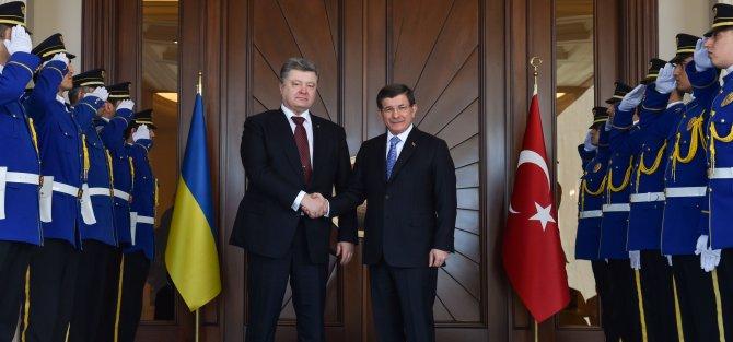 Ukrayna Cumhurbaşkanı Poroşenko, Başbakan Davutoğlu ile görüştü