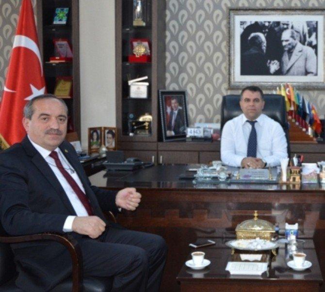 Ulus Belediye Başkanı Uzun'dan Aksoy'a Ziyaret