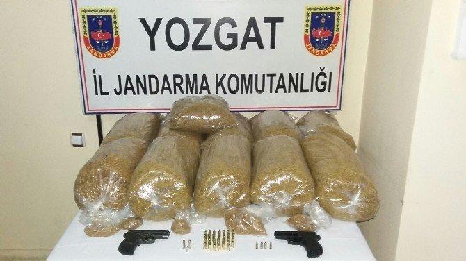 Yozgat Jandarma 55 Kg Kaçak Tütün Yakaladı