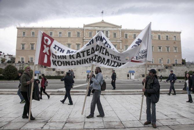 Atina'da sosyal güvenlik reformu gösterisi