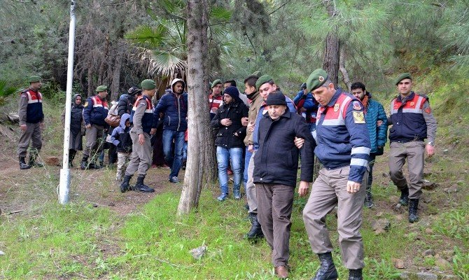 Marmaris'te 36 Göçmen Ve 6 Organizatör Yakalandı
