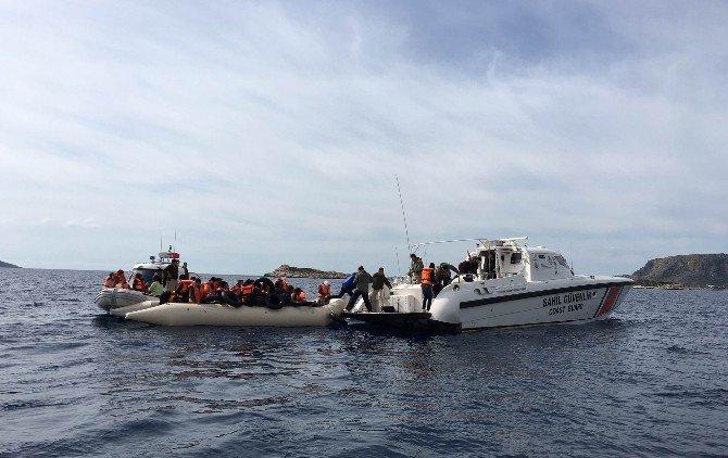 Kaş'ta Suriyeli 156 Sığınmacı Yakalandı