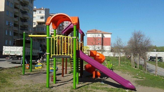 Edirne'de Çocuk Parkları Bahara Hazırlanıyor