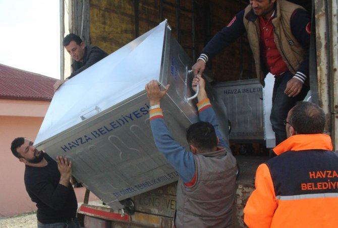 Gölcük Belediyesi'nden Havza'ya 50 adet çöp konteyner