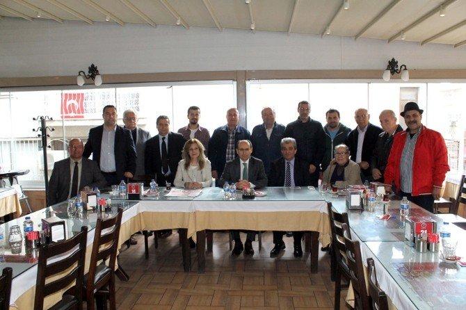 Sökeli Gazeteciler Kaymakam Tahsin Kurtbeyoğlu'nu Ağırladı