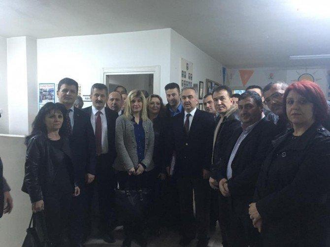 AK Parti Teşkilatı Bölge Sorumlusu Ali Temur Kozlu Teşkilatını Ziyaret Etti